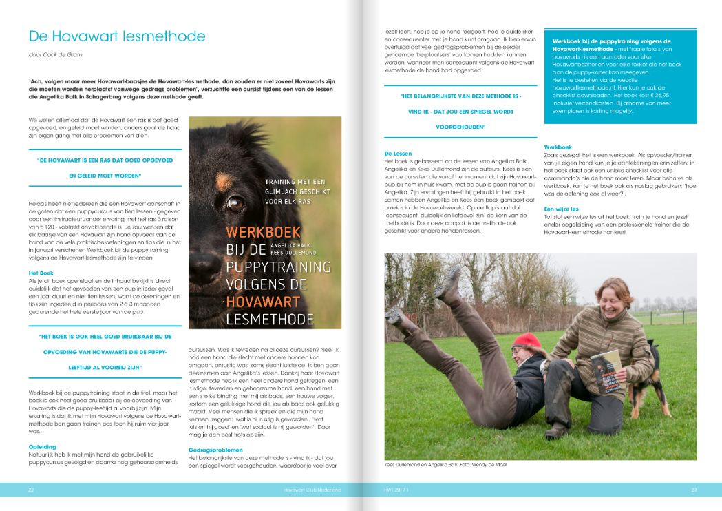 review uit hovawartaal 2019 1 over hovawartlesmethode.nl